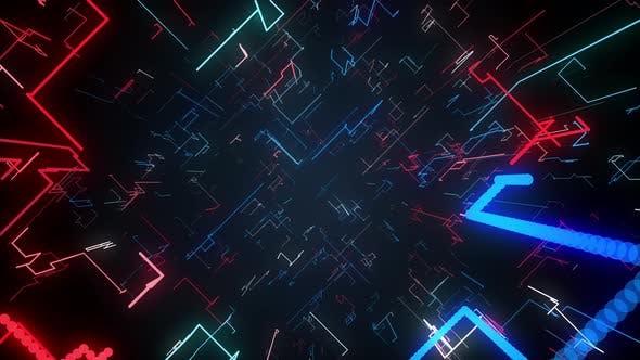 Thumbnail for Corner Lines Flowing Seamless Loop