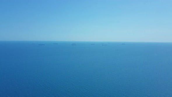 Thumbnail for Aerial View Cargo Ship and Tanker in the Sea.
