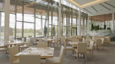Overview Of Restaurant At Golf Resort