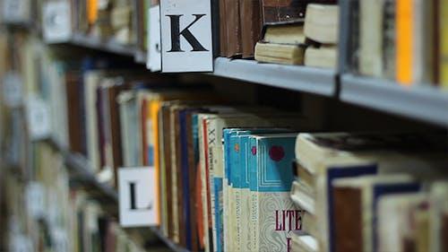 Rack Focus Over Bookshelf
