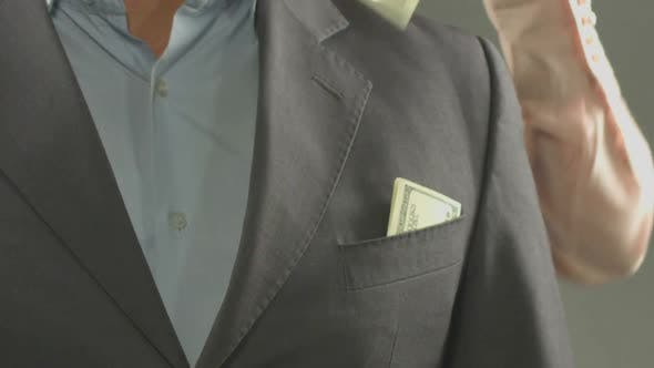 Thumbnail for Secretary Taking Dollar Banknotes from Man's Pocket Fraud Loss of Money