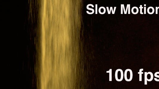 Thumbnail for Sand Falling Slow Motion