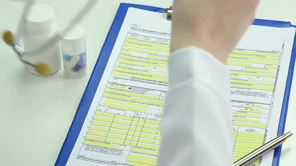 Thumbnail for Tired Female Doctor Taking Off Stethoscope and Glasses, Having Break From Work
