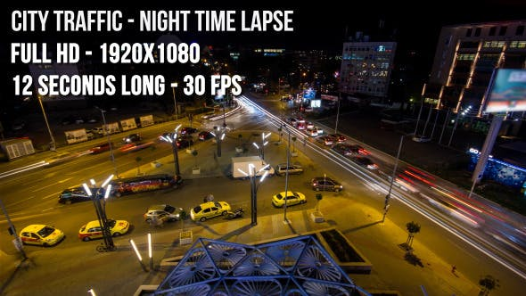Thumbnail for City Traffic Night Time lapse