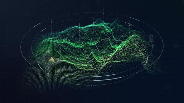 Futuristic HUD Holographic Terrain