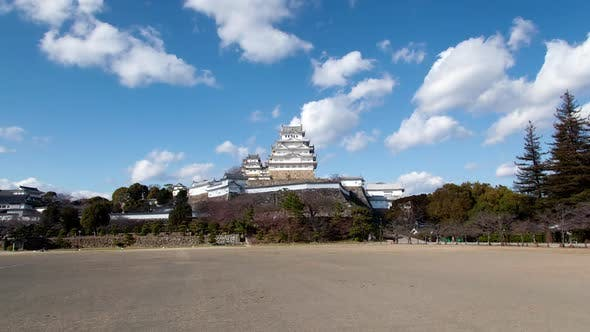 Thumbnail for Himeji Castle Japan White Heron Landmark Timelapse