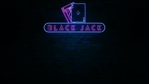 Black Jack Neon Light Sign