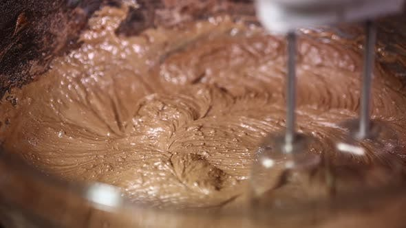 Mixing Chocolate Icing