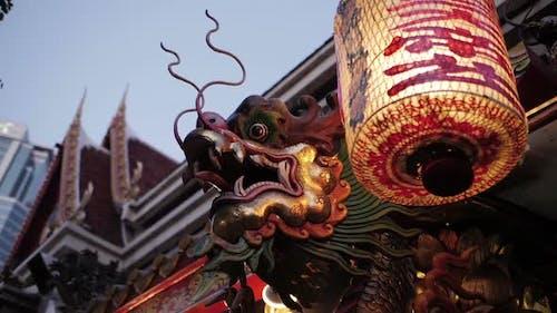 Dragon With Shrine Light