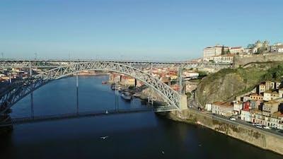 Dom Luis Bridge in Historic District of Porto