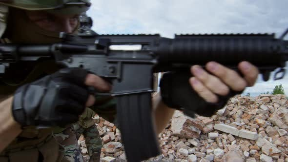 Thumbnail for Armed Squad on Military Operation