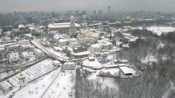 Thumbnail for Kiev-Pechersk Lavra Falling Snow in a Winter