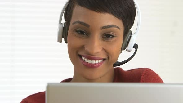 Thumbnail for Close up of African American customer service representative