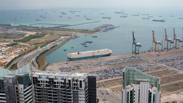 Thumbnail for Logistics in Container Port Harbor Singapore