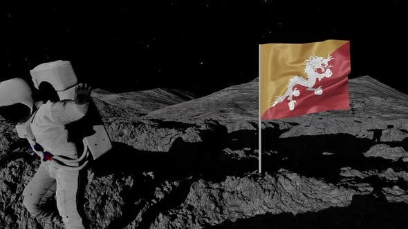 Thumbnail for Astronaut Planting Bhutan Flag on the Moon