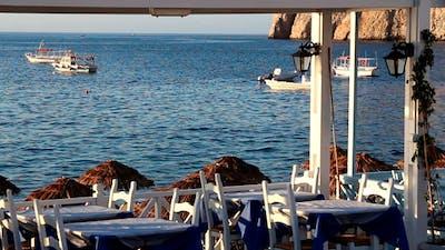 Cafe On A Beach