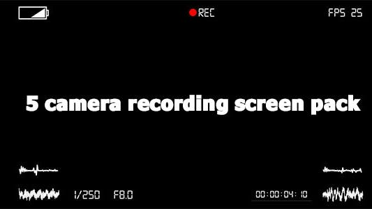 Thumbnail for Camera Recording Screen Pack