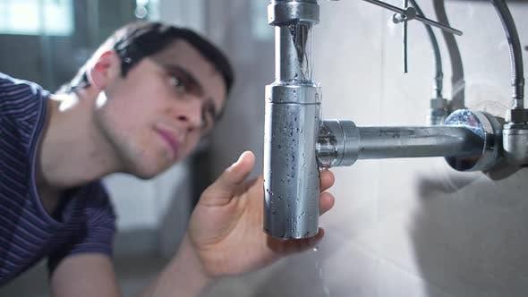 Leaking Sink in the Bathroom