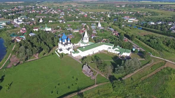 Thumbnail for Aerial View of Suzdal, Golden Ring, Russia