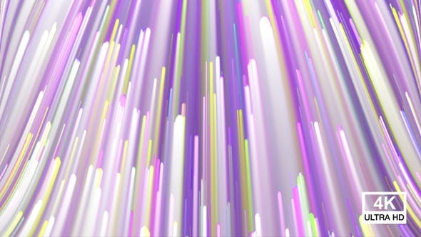 Thumbnail for Colorful Holiday Striped Background 4K