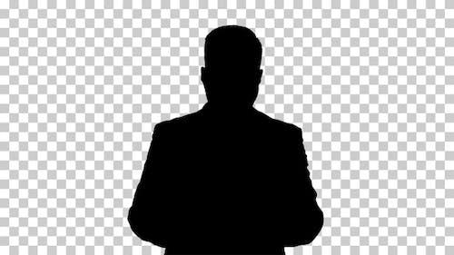 Silhouette businessman, Alpha Channel