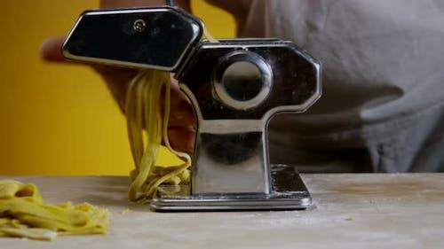 Adult Man Hands Making Homemade Pasta 22b