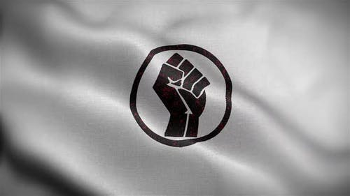 Power Fist Flag Front