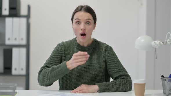 Thumbnail for Young Woman Reacting To Loss, Failure