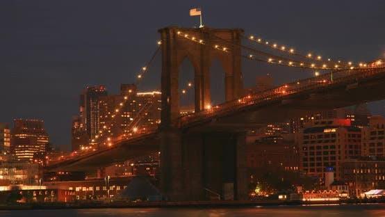 Thumbnail for Brooklyn Bridge Sunset In New York City 3B