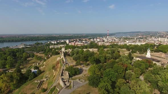 Thumbnail for Aerial View of Belgrade and Kalemegdan Fortress