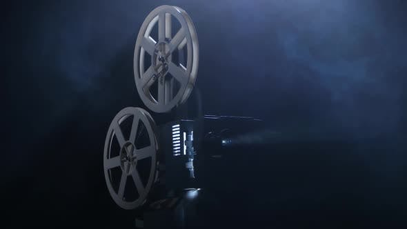 Thumbnail for Projectionist Includes Projector. Dark Background Studio in Smoke