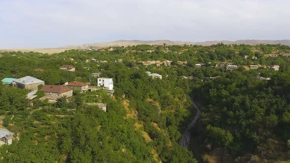 Thumbnail for Aerial View of Small Village, Monitoring Ecology Situation in Mountainous Area