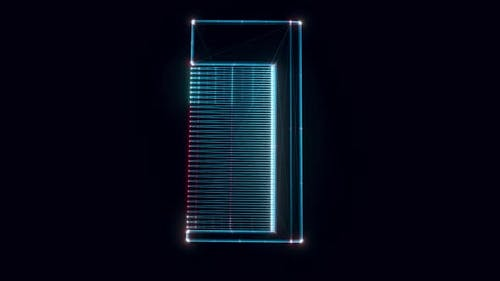 Hair Comb Hologram Rotating 4k