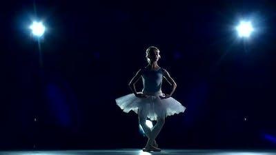 Ballerina Is Wearing Tutu. Slow Motion