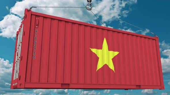 Thumbnail for Container with Flag of Vietnam