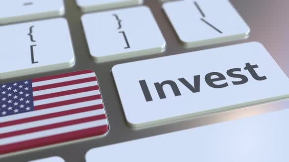 Thumbnail for INVEST Text and Flag of the United States on the Computer Keyboard