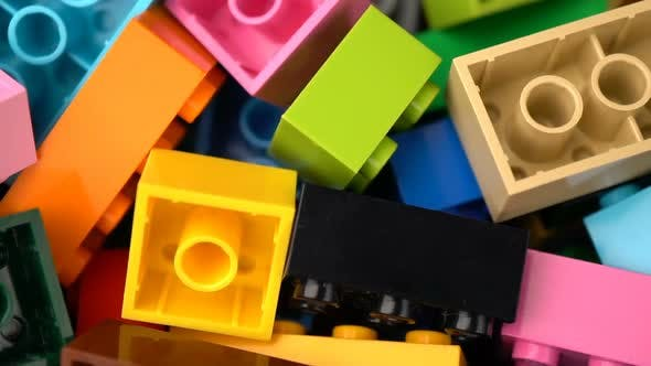 Thumbnail for Footage Motion Colorful Plastic Constructor Rotate Background Texture.