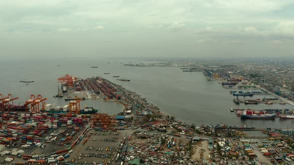 Thumbnail for Industrial Sea Port with Containers, Manila, Philippines