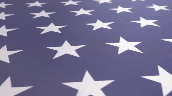 Thumbnail for American starful flag fabric close-up dolly shoot 4K 2160p UltraHD footage - United States  of Ameri