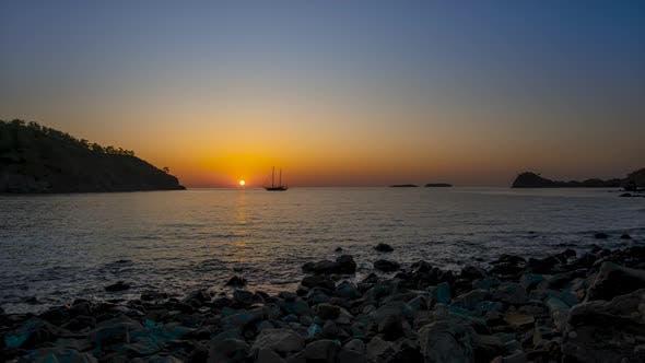 Thumbnail for Golden Sunrise Over the Mediterranean Sea