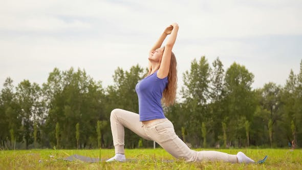 Thumbnail for Young Woman Exercising in a Meadow