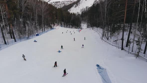 Thumbnail for Aerial Shot of Ski Resort