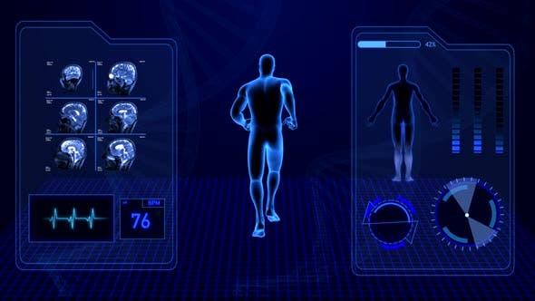 Thumbnail for Röntgenradiologie-Scan von menschlichen Körper und Gehirn Gesundheitsdaten Infographic