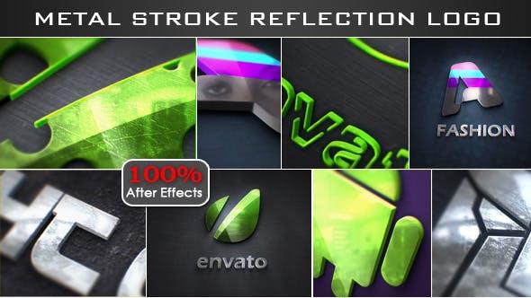Thumbnail for Stroke Metal Reflection Logo