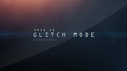 Thumbnail for Mode Glitch - Séquence de texte et Intro du Logo