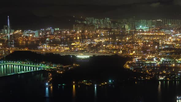 Thumbnail for Timelapse Modern Hong Kong City with Bright Illumination
