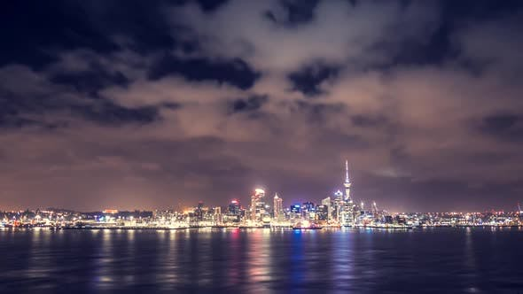 Thumbnail for Auckland at night timelapse