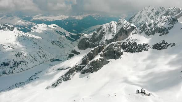 Thumbnail for Beautiful Snowy Mountains in Dolomites, Italy