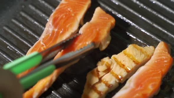 Thumbnail for Chef Preparing a Delicious Plate of Salmon