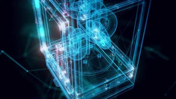 Pretzel Warmer Hologram Close Up 4k